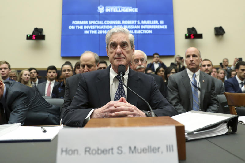 Former special counsel Robert Mueller. (Photo: Andrew Harnik/AP)