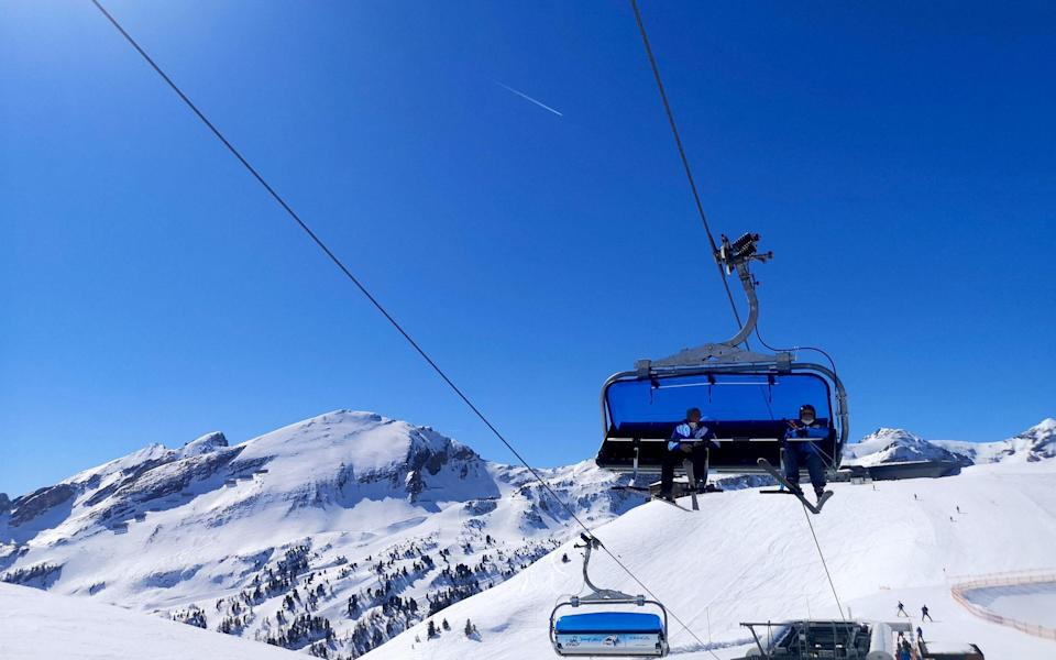 Ski lifts remain open in the resort - AFP