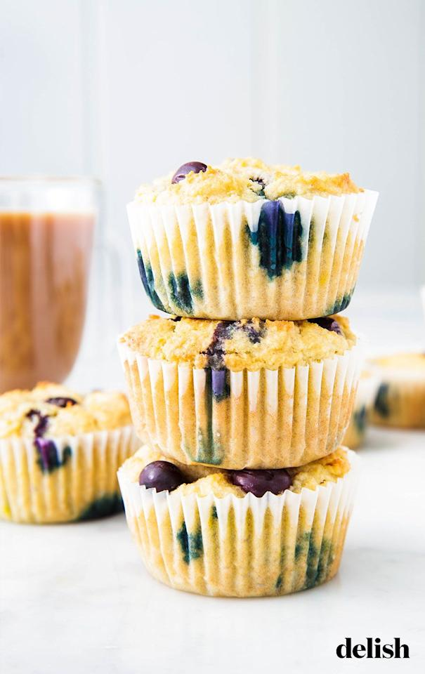 "<p>These muffins were MADE for those cravings. They've got protein, fruit, AND they're sugar free. Win/win/win!</p><p>Get the <a href=""https://www.delish.com/uk/cooking/recipes/a29949065/keto-blueberry-muffins-recipe/"" target=""_blank"">Keto Blueberry Muffins</a> recipe. </p>"