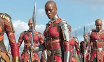 <p><span><strong>Played by:</strong> Florence Kasumba</span><br><strong>Last appearance: </strong><i><span>Black Panther</span></i><br><span><strong>What's she up to?</strong> Ayo's back on Dora Milaje duty after they successfully beat Killmonger's forces during the battle of Mount Bashenga.</span> </p>