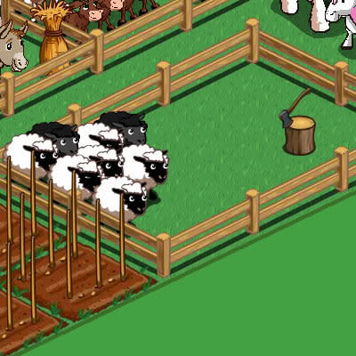 Killer farmville pic of the day: Like lambs led to slaughter