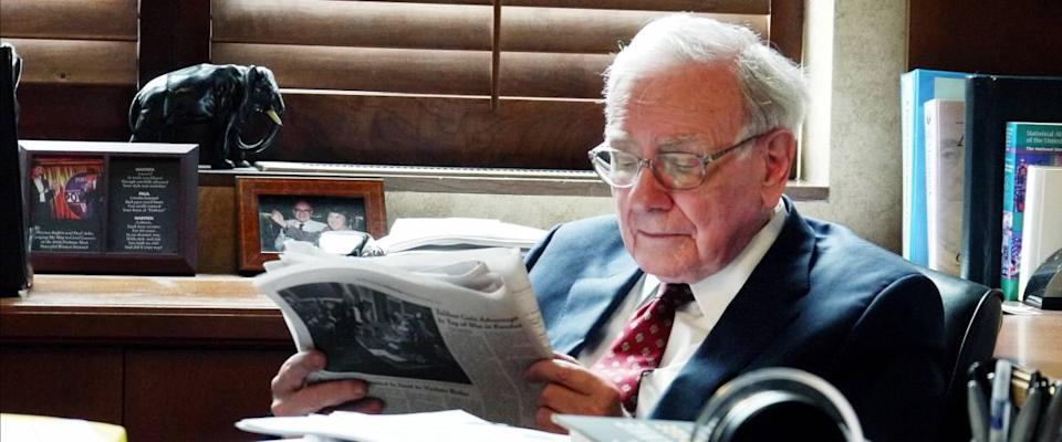 Warren Buffett begins each day by reading a newspaper.