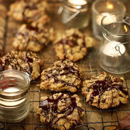 """<p>It takes only 20 minutes to make these deliciously chocolatey, nutty and fruity cookies.<br><br><strong>Recipe:</strong> <a href=""""https://www.goodhousekeeping.com/uk/food/recipes/tea-break-cookies"""" rel=""""nofollow noopener"""" target=""""_blank"""" data-ylk=""""slk:Tea break cookies"""" class=""""link rapid-noclick-resp"""">Tea break cookies</a><br> </p>"""