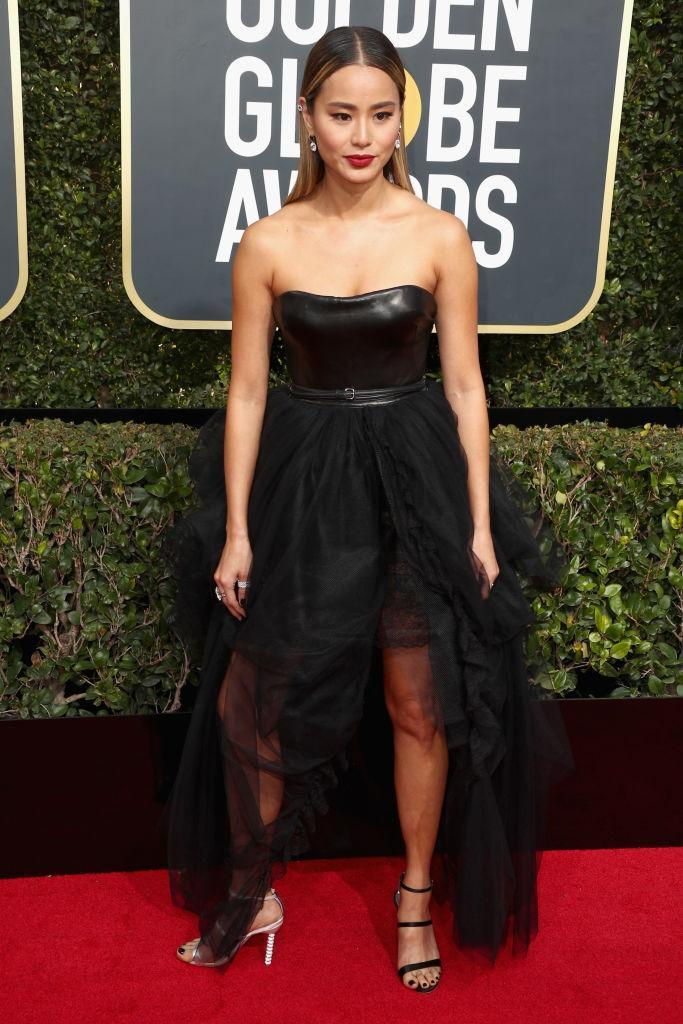 <p><em>The Gifted</em> actress attends the 75th Annual Golden Globe Awards at the Beverly Hilton Hotel in Beverly Hills, Calif., on Jan. 7, 2018. (Photo: Steve Granitz/WireImage) </p>