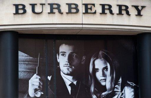 A Burberry shop is pictured in central London