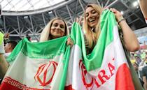 <p>A fan of Iran is seen during the 2018 FIFA World Cup Russia Group B match between Morocco and IR Iran at the Saint Petersburg Stadium in St. Petersburg , Russia on June, 15, 2018. (Photo by Gokhan Balci/Anadolu Agency/Getty Images) </p>
