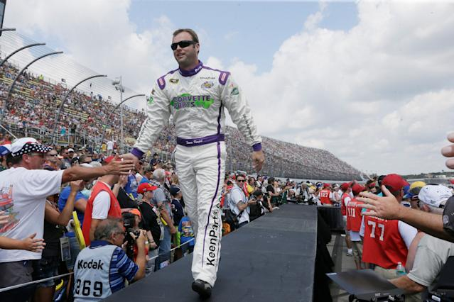 Travis Kvapil has been a backmarker in the Cup Series but won the Truck Series title in 2003. (AP)