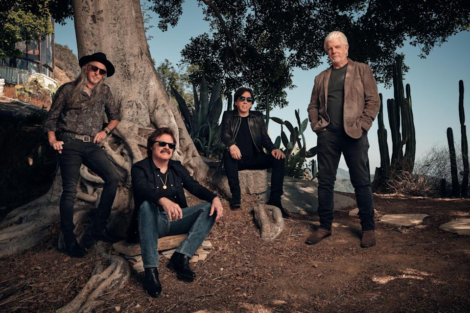 The Doobie Brothers - from left, Patrick Simmons, Tom Johnston, John McFee and Michael McDonald - are celebrating 50 years with a tour featuring McDonald.