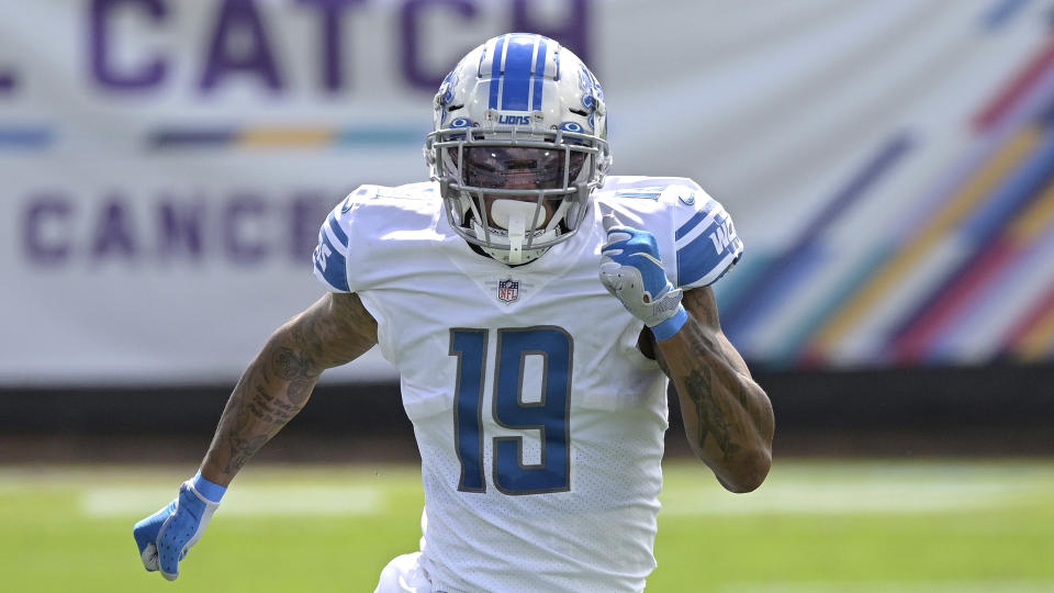 Detroit Lions wide receiver Kenny Golladay (19)