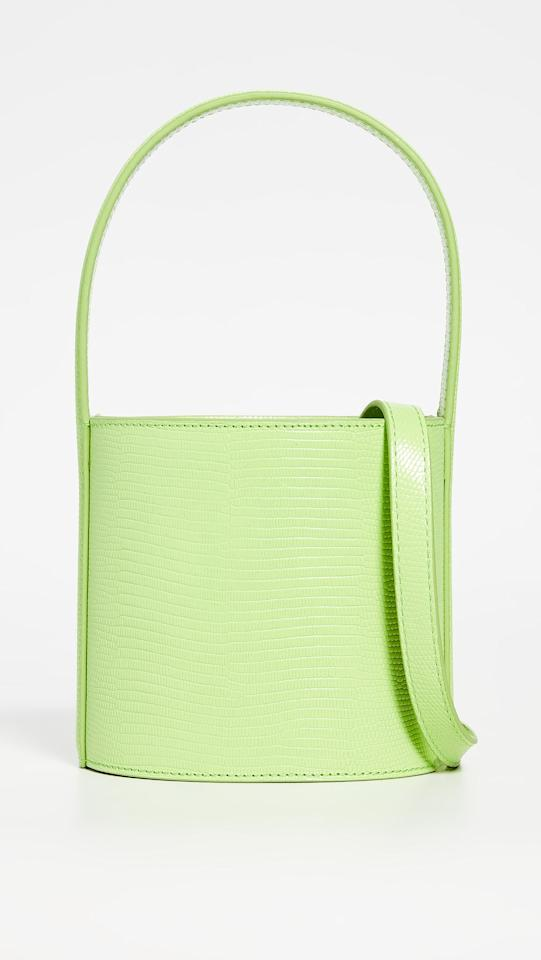 """Staud is known for making the It bag for every season. Most recently it was the <a href=""""https://www.shopbop.com/mini-moreau-bag-staud/vp/v=1/1595439445.htm"""" rel=""""nofollow"""">Moreau bag</a>, a bucket bag with a macramé cover and then the Shirley Bag, a PVC tote that exposes all of your belongings. Every celebrity seems to also own its <a href=""""https://www.shopbop.com/bissett-bag-staud/vp/v=1/1583525793.htm?folderID=53407&fm=other-shopbysize-viewall&os=false&colorId=12408"""" rel=""""nofollow"""">Bissett bag</a>, a simple cowhide bucket bag with contrast stitching and we guarantee its popularity will only continue. The new lime green color is also bound to be a hit among everyone since it's definitely millennial pink's punchier successor. $325, Staud Mini Bissett Bag. <a href=""""https://www.shopbop.com/mini-bissett-bag-staud/vp/v=1/1581479611.htm?folderID=53407&fm=other-shopbysize-viewall&os=false&colorId=12994"""">Get it now!</a>"""