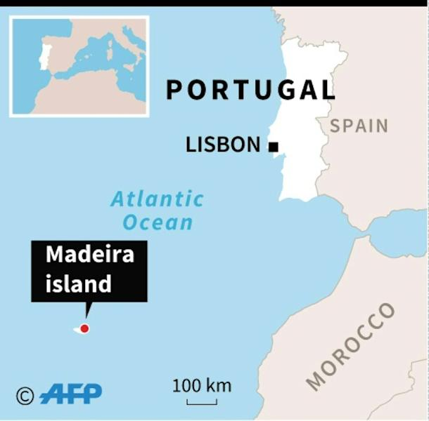 Madeira lies in the Atlantic off the coast of Morocco
