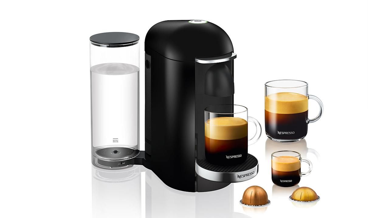 "<p>""I love how easy the Nespresso VertuoPlus is to use. You literally press one button and it makes really excellent coffee (especially impressive for a capsule machine)! Plus, it comes in an extra-large Deluxe model if, like me, you need way too much caffeine."" [<a rel=""nofollow"" href=""http://williams-sonoma.7eer.net/c/249354/265127/4291?subId1=CoffeeMakersFW&u=http%3A%2F%2Fwww.williams-sonoma.com%2Fproducts%2Fnespresso-vertuo-plus-coffee-espresso-maker%2F"">Nespresso VertuoPlus</a>, from $199.95]</p>"
