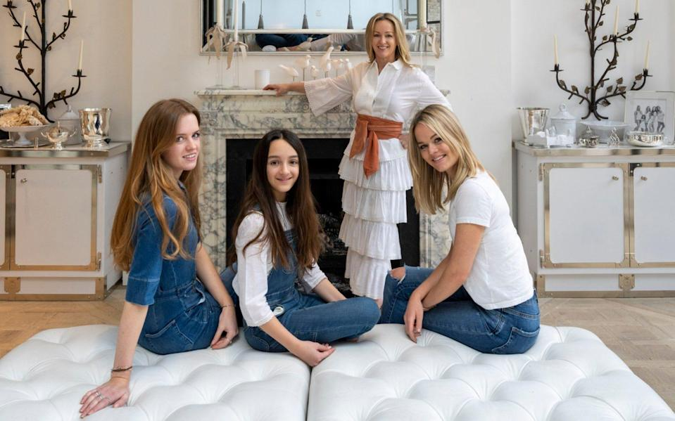 Alison Henry with daughters Sophie, Olivia and Anna-Cristina - Andrew Crowley