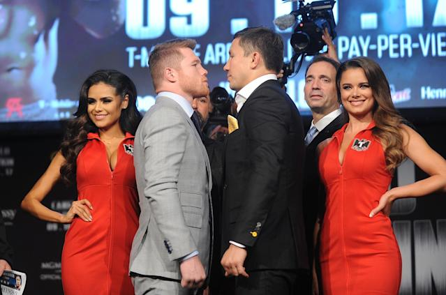 Canelo Alvarez vs. Gennady Golovkin is perhaps the best boxing matchup of the year. (Getty)