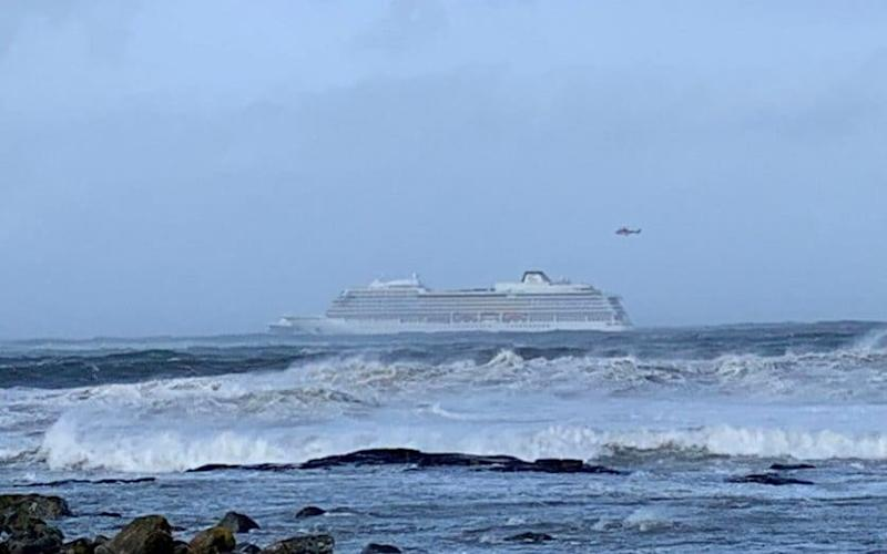 The Viking Sky, with almost 1,400 passengers and crew aboard, sent out a mayday signal on Saturday - REUTERS