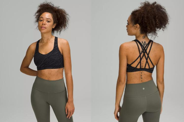 Lululemon Free To Be Serene Bra's is included in this week's We Made Too Much markdowns.