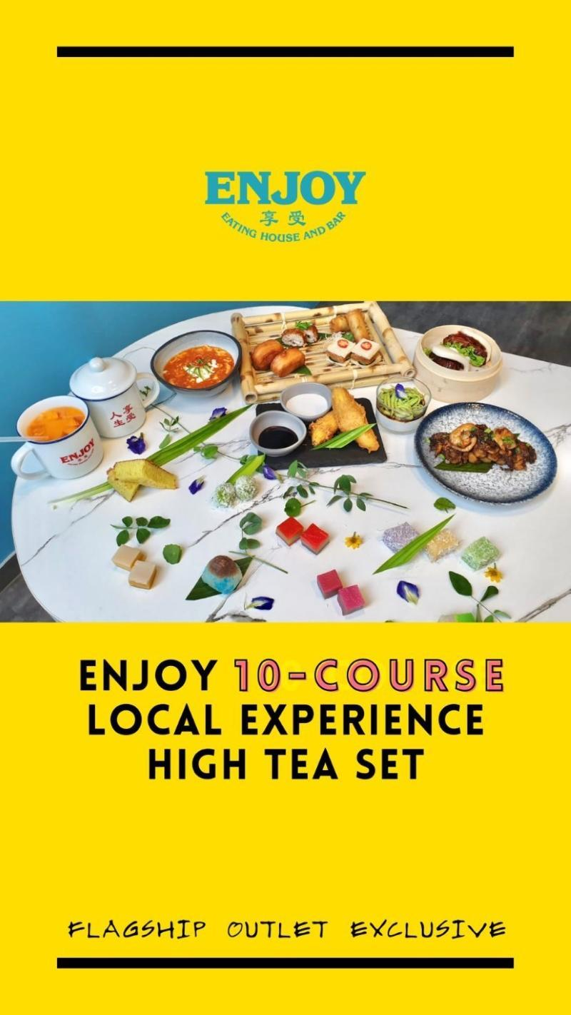 10-course local experience high tea set promotion