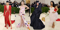 """<p>The 2021 <a href=""""https://www.cosmopolitan.com/uk/met-ball/"""" rel=""""nofollow noopener"""" target=""""_blank"""" data-ylk=""""slk:Met Gala"""" class=""""link rapid-noclick-resp"""">Met Gala</a> is (finally) here - woop and yay! After being postponed from May, the most hotly-anticipated red carpet event of the year (IMO) is, at long last, kicking off in New York City on the steps of the Metropolitan Museum of Art and I COULD NOT be more excited. </p><p>As always, this year's shenanigans has a theme, and the one we're rolling with today is In America: A Lexicon of Fashion. Sounds pretty fun huh? Naturally, there are loads of US designer looks and, since we've been waiting so long for the big day to arrive, some truly glorious celebrity outfits too.</p><p>Sooo, without further ado, scroll through to see all the best dressed celebrities at the 2021 Met Gala.</p>"""