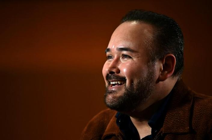 Mexican tenor Javier Camarena poses at the Teatro Real in Madrid, on January 13