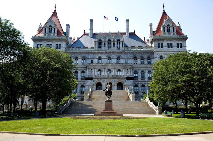 """<p><strong>Established in:</strong> 1624</p><p><a href=""""https://www.albany.org/things-to-do/albany-heritage-tourism/history/"""" rel=""""nofollow noopener"""" target=""""_blank"""" data-ylk=""""slk:Henry Hudson"""" class=""""link rapid-noclick-resp"""">Henry Hudson</a> arrived in Albany in 1609, but it was already home to a Dutch trading post and the Haudenosaunee tribe. It didn't become the capital of the state until 1797. Albany was the point of origin for the first long distance airplane flight and the first passenger railroad. </p>"""
