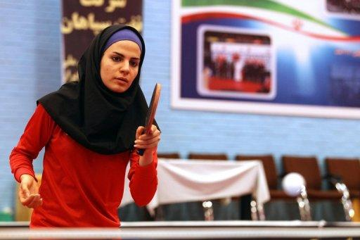 "Neda Shahsavari practices in Tehran. She admited that expectations are high but vowed ""I will do my best"""