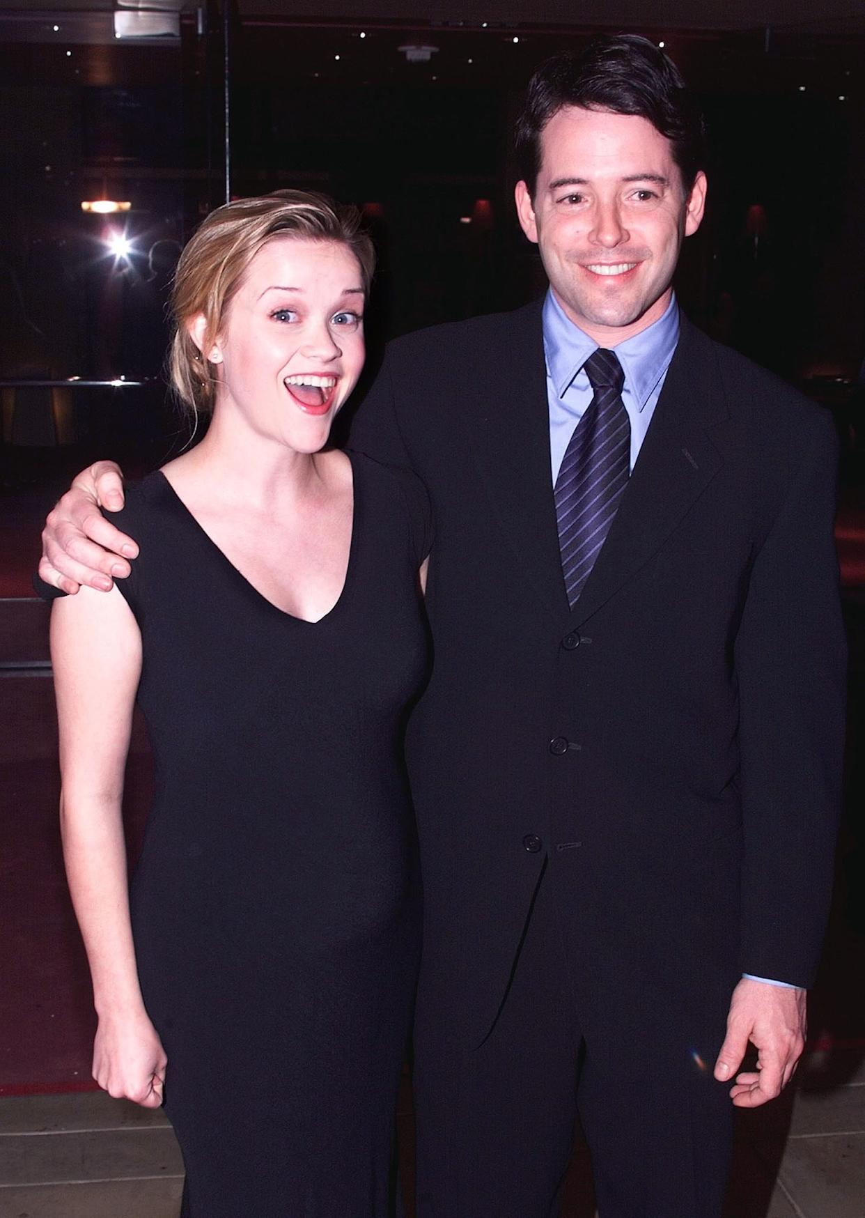 Witherspoon (with Election co-star Matthew Broderick in 1999) says studio heads had trouble separating her from character Tracy Flick. (Photo: FSP/ELD/ws)