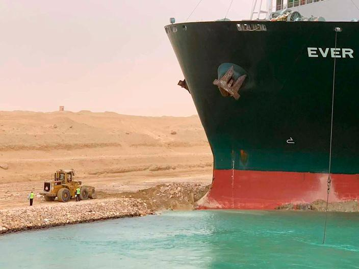 Ever Given in the Suez Canal