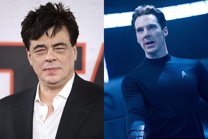 """<p>Del Toro was in talks to play the iconic villain Khan in the 2013 <em>Star Trek</em> sequel, but the star walked away from negotiations after he and the production weren't able to agree on the pay, <a href=""""http://www.vulture.com/2011/12/benicio-del-toro-star-trek-sequel-khan.html"""" rel=""""nofollow noopener"""" target=""""_blank"""" data-ylk=""""slk:Vulture reported"""" class=""""link rapid-noclick-resp"""">Vulture reported</a>. The buzzy part ended up in the lap of Benedict Cumberbatch instead.</p>"""