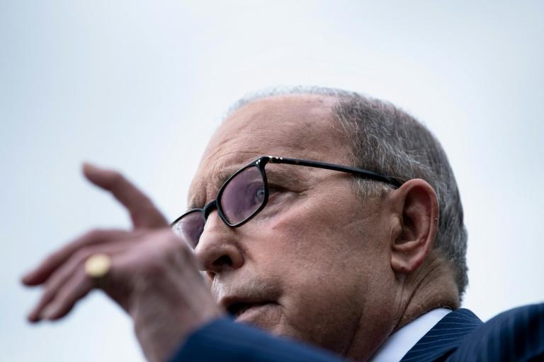 White House economic advisor Larry Kudlow, seen here speaking to reporters outside the White House on August 2, 2019, says the US and China are working to revive stalled trade talks (AFP Photo/Brendan Smialowski)