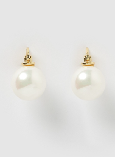 Izoa Claire Earrings in Gold Pearl, $49 from The Iconic. Photo: The Iconic.