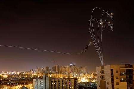 Iron Dome anti-missile system fires interception missiles as rockets are launched from Gaza towards Israel as seen from the city of Ashkelon, Israel Ashkelon May 5, 2019. REUTERS/ Amir Cohen