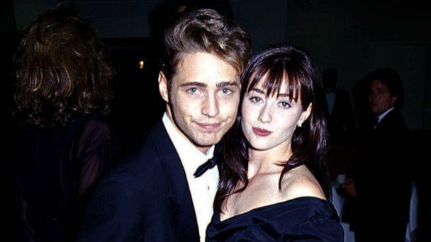 PHOTO: Jason Priestley and Shannen Doherty during the Emmy Awards, 1991. (Jeff Kravitz/FilmMagic/Getty Images, FILE)