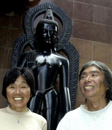 Tamae Watanabe (L) made history when she scaled the 8,848-metre (29,029-foot) peak on May 16, 2002