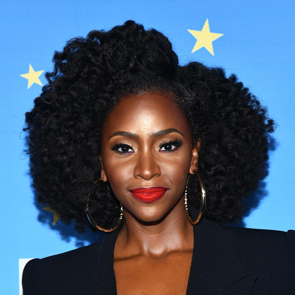 """<p>Teyonah Parris's layered <a href=""""https://www.allure.com/story/how-to-do-a-twist-out-hairstyle?mbid=synd_yahoo_rss"""" rel=""""nofollow noopener"""" target=""""_blank"""" data-ylk=""""slk:twist-out"""" class=""""link rapid-noclick-resp"""">twist-out</a>, as Bergamy calls it, looks effortlessly polished. Natural, heatless (or heat-minimal) styles like this are amazing for highly-textured strands, especially for 3C to 4C hair. """"By using less heat to manipulate the hair, you don't have to worry about losing your curl pattern, making it easier to achieve an amazing haircut,"""" she says.</p> <p>As for styling, Bergamy recommends applying your favorite leave-in conditioner with the <a href=""""https://shop-links.co/1740953338262575581"""" rel=""""nofollow noopener"""" target=""""_blank"""" data-ylk=""""slk:L'Oréal Professionnel Tecni Art Transformer Texture Gel To Foam"""" class=""""link rapid-noclick-resp"""">L'Oréal Professionnel Tecni Art Transformer Texture Gel To Foam</a>. Then, style with a diffuser and a blow-dryer or hooded dryer. """"If you are leaving the twists overnight, make sure to use a <a href=""""https://www.allure.com/gallery/protective-silk-bonnets-hair-wraps-hats?mbid=synd_yahoo_rss"""" rel=""""nofollow noopener"""" target=""""_blank"""" data-ylk=""""slk:silk bonnet"""" class=""""link rapid-noclick-resp"""">silk bonnet</a> to protect your hair and style while you sleep.""""</p>"""