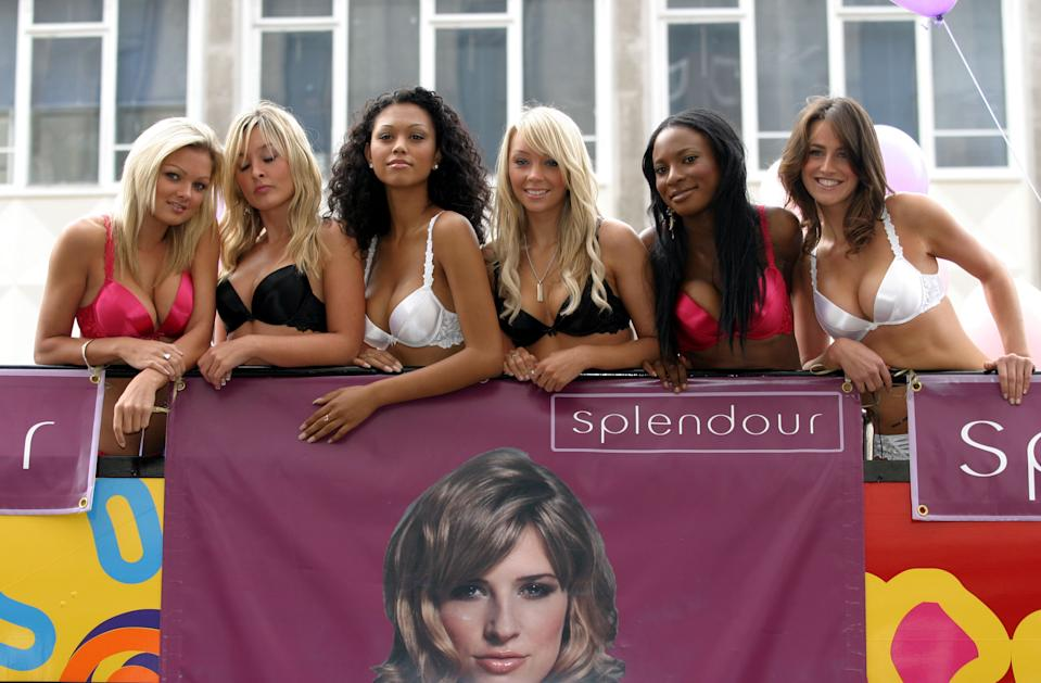 Models during Splendourbra Challenge - Photocall at Debenhams, 334-348 Oxford St in London, Great Britain. (Photo by Ferdaus Shamim/WireImage)