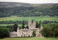 "<ul> <li><a href=""http://www.balmoralcastle.com/location.htm"" class=""link rapid-noclick-resp"" rel=""nofollow noopener"" target=""_blank"" data-ylk=""slk:The estate is located in the Scottish countryside"">The estate is located in the Scottish countryside</a>, about 50 miles from the city of Aberdeen, and spans approximately 50,000 acres.</li> <li>The current castle sits about 100 yards away from where the original castle stood. Although the original building was demolished, its former location is marked by a commemorative stone.</li> </ul>"