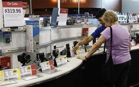 Shoppers browse in a store in Virginia