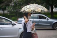 Pyongyang's residents are coping with higher-than-average temperatures