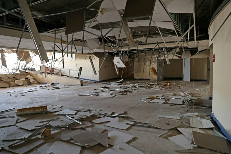 In August 2020, like swathes of the Lebanese capital, the stadium was ravaged in a deadly explosion at Beirut port that has been largely blamed on government neglect (AFP/ANWAR AMRO)