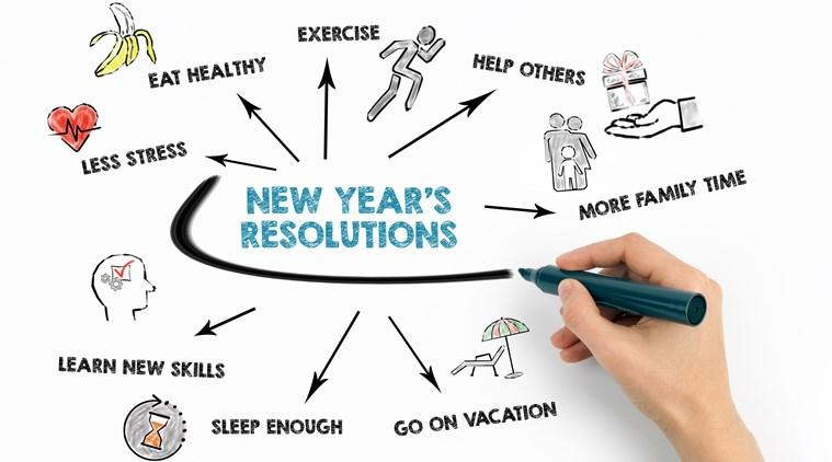 new year resoultions, new year 2020, health tips 2020, indianexpress, indianexpress.com, hydration, breakfast importance, new year fitness, how to lose weight, cut carbs, small meals, oats, diabetes, how to manage diabetes,