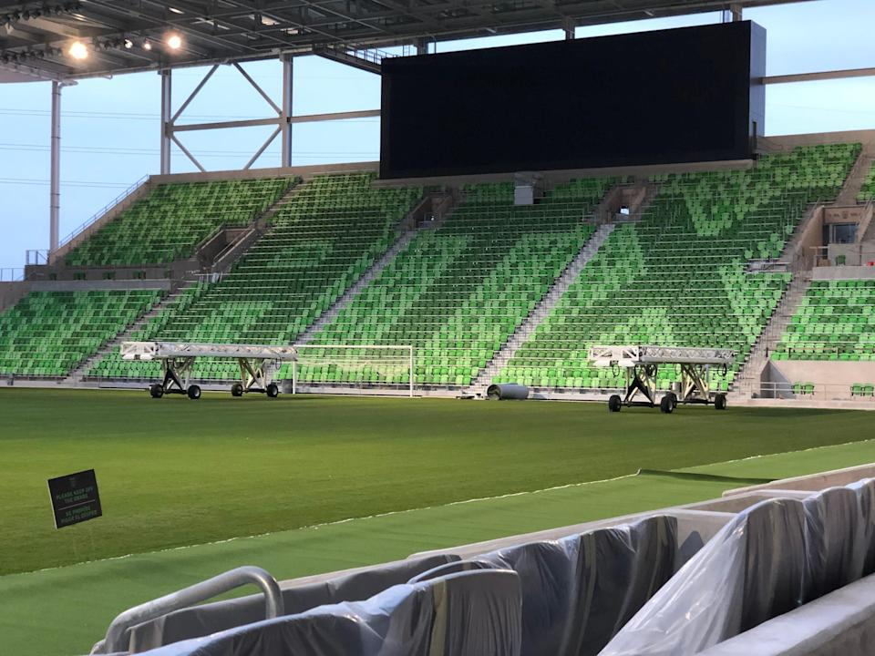 Austin FC's Q2 stadium is approximately 95% complete according to team officials. The home opener for the squad is slated for June 19 versus the San Jose Earthquakes.