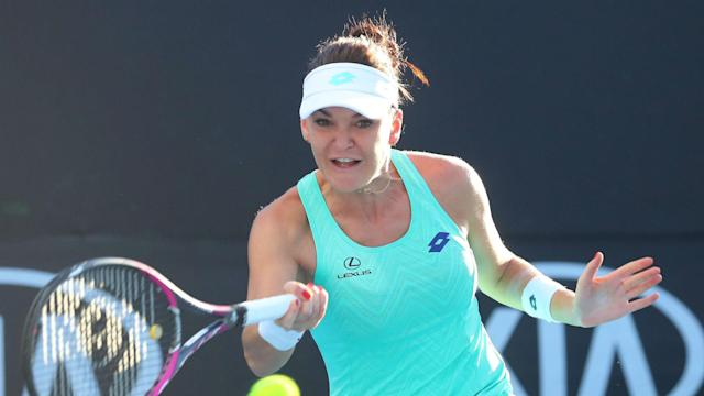 Johanna Konta made it to round two, but Agnieszka Radwanska and Kristina Mladenovic waved goodbye to the Dubai Tennis Championships.