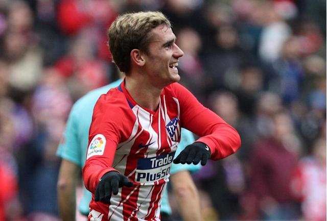 Soccer Football - La Liga Santander - Atletico Madrid vs Girona - Wanda Metropolitano, Madrid, Spain - January 20, 2018 Atletico Madrid's Antoine Griezmann celebrates scoring their first goal REUTERS/Sergio Perez