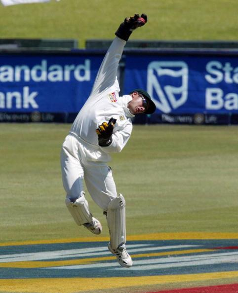 TRANSVAAL - NOVEMBER 18: Mark Boucher of South Africa in action on the fourth day of the second test match between South Africa and Sri Lanka, played at Supersport Park, Centurion, Transvaal, South Africa on November 18, 2002.  (Photo by Touchline Photo/Getty Images), Touchline Photo images are available to clients in the UK, USA and Australia only.