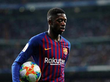 Champions League: Barcelona's Ousmane Dembele ruled out for one month due to hamstring injury