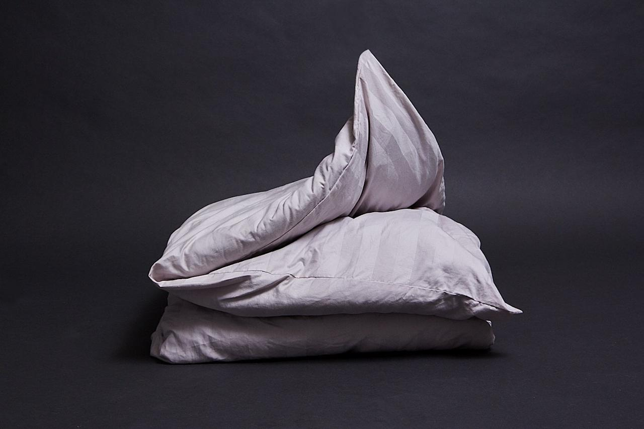 """<p>The <a rel=""""nofollow"""" href=""""https://www.popsugar.com/buy/Serenity%20Weighted%20Blanket-375552?p_name=Serenity%20Weighted%20Blanket&retailer=serenitysleepsystems.com&price=199&evar1=fit%3Aus&evar9=45410504&evar98=https%3A%2F%2Fwww.popsugar.com%2Ffitness%2Fphoto-gallery%2F45410504%2Fimage%2F45411969%2FSerenity-Weighted-Blanket&list1=stress%2Csleep%2Cmental%20health%2Canxiety%2Chealthy%20living&prop13=mobile&pdata=1"""" rel=""""nofollow"""">Serenity Weighted Blanket</a> ($199-$219) is 100 percent organic from the inside out. This 230-thread count blanket and 300-thread count duvet is as comfortable and breathable as is it <a rel=""""nofollow"""" href=""""https://www.popsugar.com/smart-living/Eco-Friendly-Cleaning-Products-45021114"""">environmentally friendly</a>. </p>"""