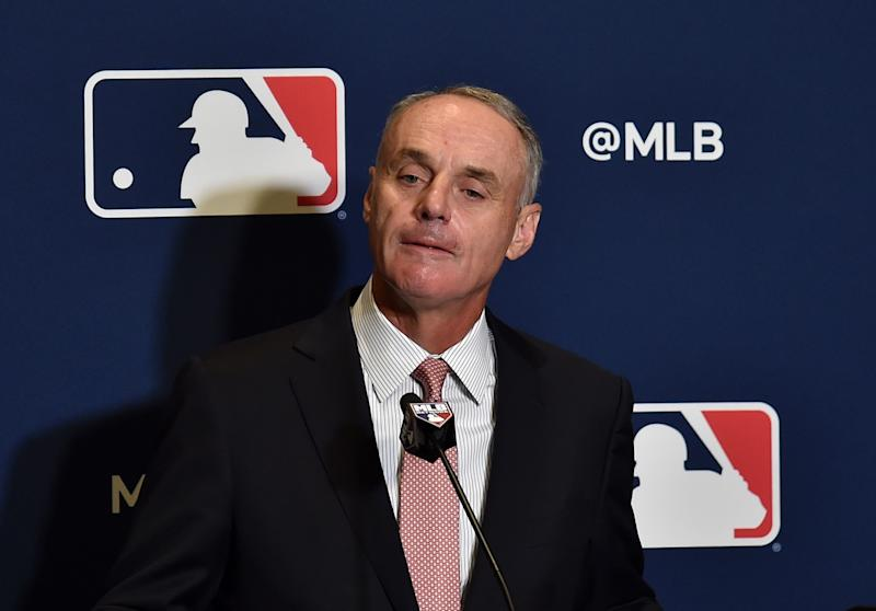 Rob Manfred admits that balls this year are different. (Reuters)