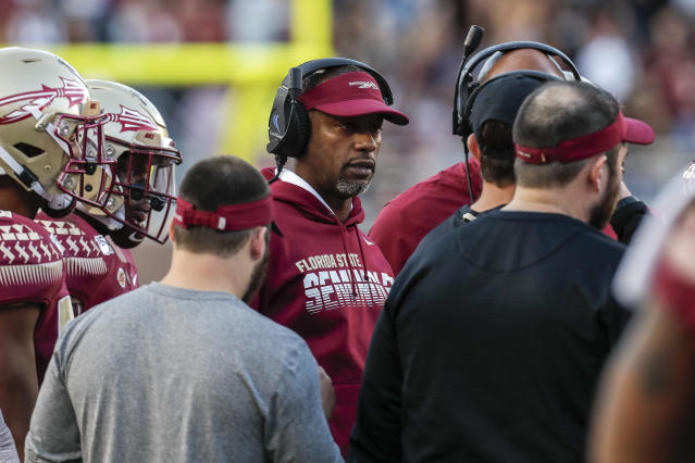Florida State head coach Willie Taggart was fired after a loss to Miami. (Photo by Don Juan Moore/Getty Images)