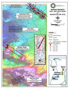 Location of exploration targets of the Nassau gold project, Suriname.