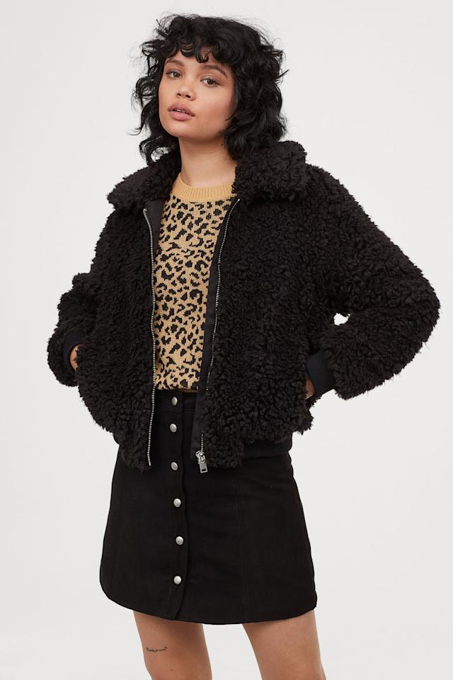 """<p>This cozy <a href=""""https://www.popsugar.com/buy/HampM-Faux-Fur-Jacket-469677?p_name=H%26amp%3BM%20Faux-Fur%20Jacket&retailer=www2.hm.com&pid=469677&price=50&evar1=fab%3Aus&evar9=46395601&evar98=https%3A%2F%2Fwww.popsugar.com%2Ffashion%2Fphoto-gallery%2F46395601%2Fimage%2F46395697%2FHM-Faux-Fur-Jacket&list1=shopping%2Ch%26m%2Cfall%20fashion%2Caffordable%20shopping&prop13=mobile&pdata=1"""" rel=""""nofollow"""" data-shoppable-link=""""1"""" target=""""_blank"""" class=""""ga-track"""" data-ga-category=""""Related"""" data-ga-label=""""https://www2.hm.com/en_us/productpage.0740215005.html"""" data-ga-action=""""In-Line Links"""">H&amp;M Faux-Fur Jacket</a> ($50) also comes in cream.</p>"""